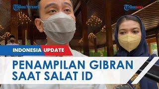 Potret Penampilan Selvi Ananda Salat Id Bersama Gibran di Balai Kota Solo, Pilih Gamis Motif Batik