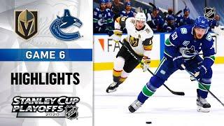 NHL Highlights | Second Round, Gm6: Golden Knights @ Canucks - Sept. 03, 2020