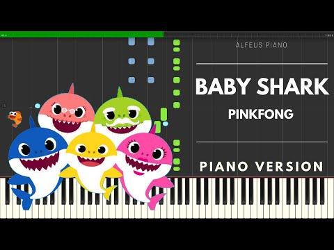 Baby Shark Song - Piano Tutorial Easy - Pinkfong - How To