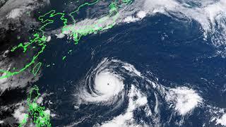 [ひまわり8号]台風21号2018.9.5/CEReS,ChibaUniversity