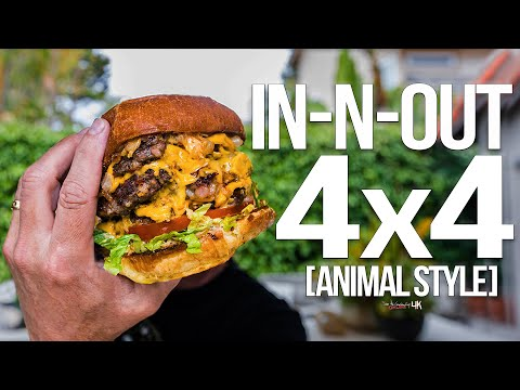 Homemade In-N-Out Burger 4×4 (Animal Style)   SAM THE COOKING GUY 4K