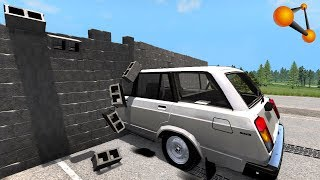 СКОРОСТНОЙ ПРЕДЕЛ! В КИРПИЧНУЮ СТЕНУ НА 600 КМ/Ч | BeamNG.drive