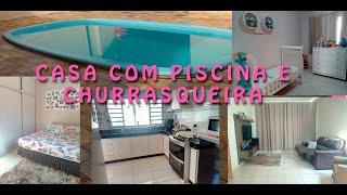 TOUR COMPLETO CASA COM PISCINA !!!!!!