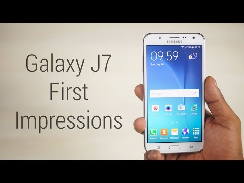 Galaxy J7 - Hands On & First Impressions!