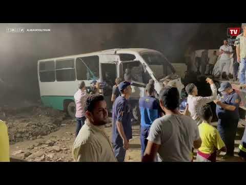 بمساعدة الأهالي..الحماية المدنية ترفع حطام حادث قطار حلوان