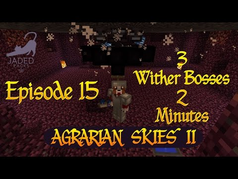 Agrarian Skies 2 / 3 Wither Boses in 2 Minutes / Ep 15 / Minecraft