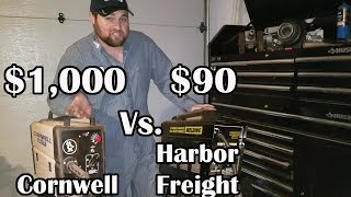 WELDER SHOOTOUT Harbor Freight Vs Cornwell 115 volt