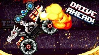 Drive Ahead Мега Дракон СКЕЛЕТ ТОПОВЫЙ БОСС в мультяшной игре про машинки ДРАЙВ АХЕД битва тачек