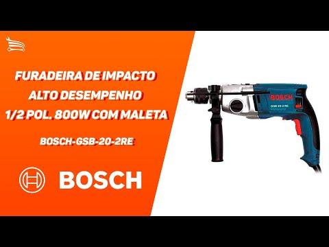Furadeira de Impacto Alto Desempenho 1/2 Pol. 800W  com Maleta - Video