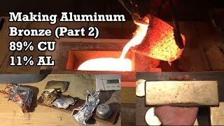 Gambar cover Making Aluminum Bronze (Part 2): Melting Copper and Aluminum / 5 POUND BAR