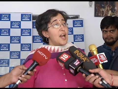 AAP Leader Atishi Marlena Briefs Media on CBI raid at Satyendra Jain's House