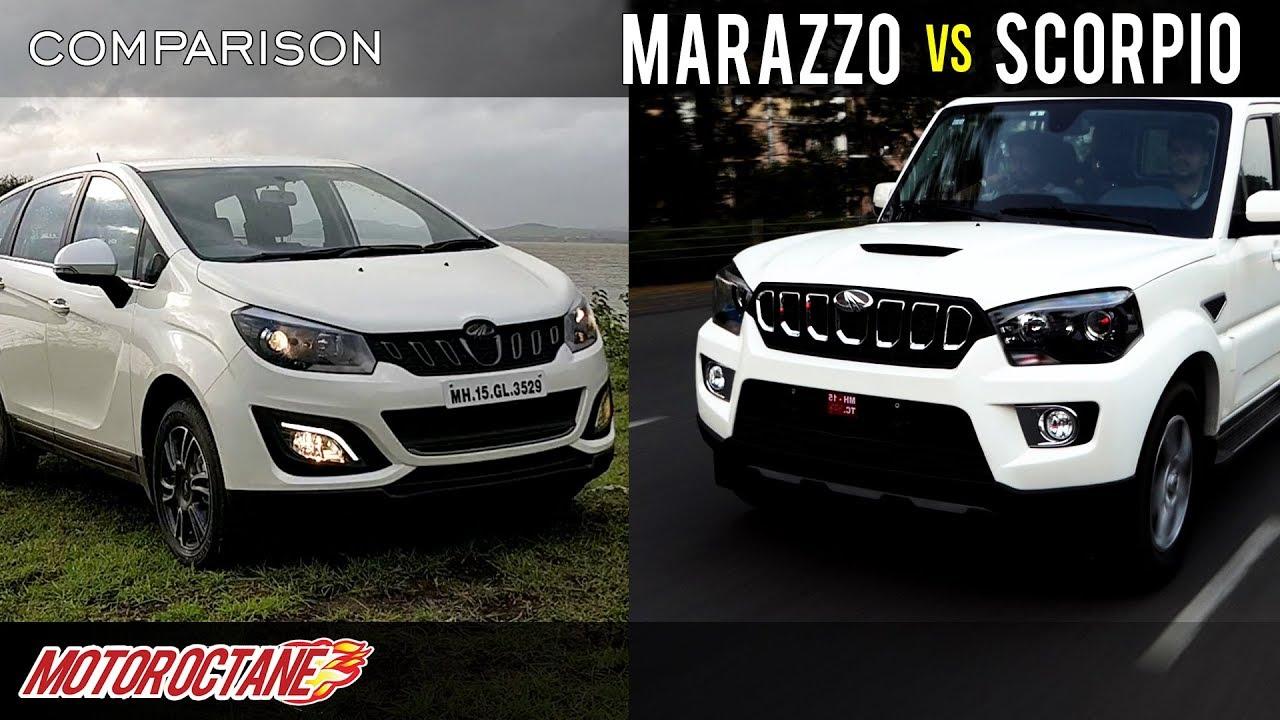 Motoroctane Youtube Video - Mahindra Marazzo vs Mahindra Scorpio Comparison | Hindi | MotorOctane
