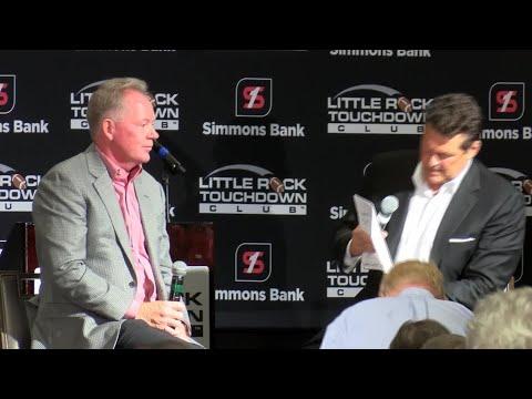 Bobby Petrino speaks at Little Rock Touchdown Club