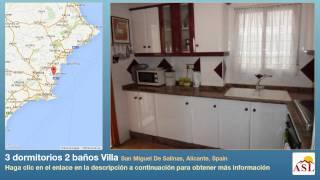 preview picture of video '3 dormitorios 2 baños Villa se Vende en San Miguel De Salinas, Alicante, Spain'