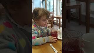 Девочка пьет кислый сок, смешные детки, funny kids , приколы
