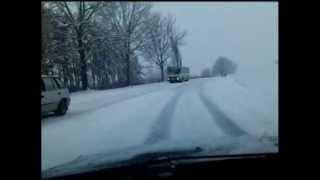 preview picture of video 'Kaposvár - Kaposújlak 610-es út télen hóesés'