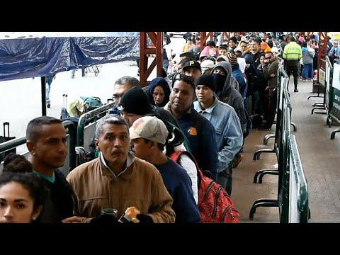 Venezuelans flee country amid economic crisis
