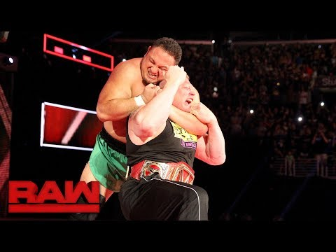 Samoa Joe Traps Brock Lesnar In The Coquina Clutch: Raw, June 26, 2017 Mp3