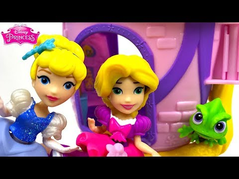CINDERELLA'S SEWING PARTY  RAPUNZEL'S STYLIN' CASTLE & SOFIA THE FIRST DELUXE JEWELRY BOX - UNBOXING