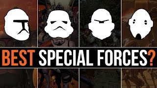 Which Star Wars Faction has the BEST SPECIAL FORCES? | Star Wars Lore