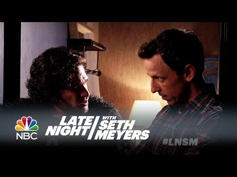 Jon Sníh na večeři u Setha Meyerse