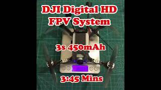 "Sub 250g (188g) DJI Digital HD FPV 4"" Freestyle Mini Quad (3s 450mAh Battery)"