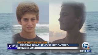 Missing Jupiter teens boat; iPhone recovered