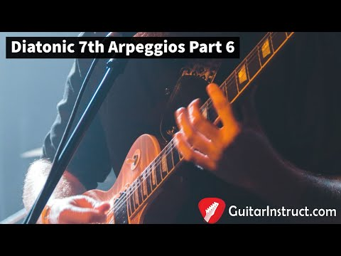 Here is an example of playing Diatonic 7th Arpeggios.