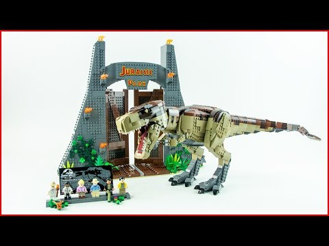 LEGO JURASSIC WORLD 75936 Jurassic Park: T.rex Rampage Construction Toy - UNBOXING