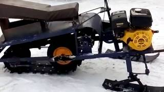 испытание снегоходика и небольшой его обзор
