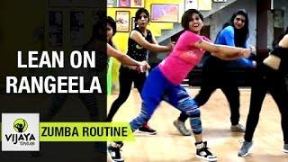 Zumba Routine on Lean on Rangeela Song   Zumba Dance Fitness   Choreographed by Vijaya Tupurani