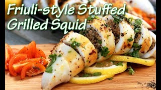 How to Make Friuli-style Stuffed Grilled Squid | Share Food Singapore