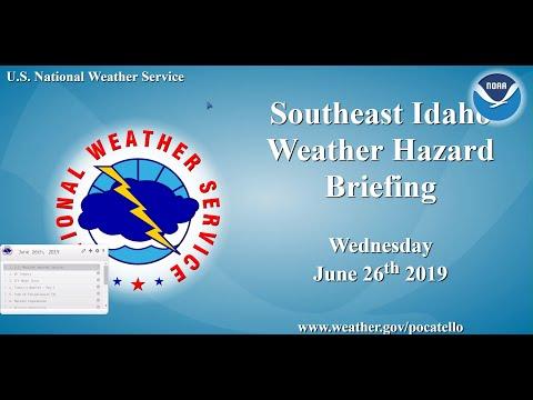 6/26/19 Hazard Briefing - Breezy Southwest flow with Thunderstorm Chances