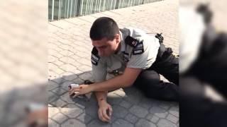 BMX Kids Fight Security Guards   Mall Cop Fail