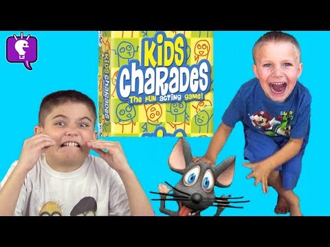 GUESSING GAME of PRETEND PLAY of CHARADES with HobbyKidsTV