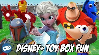 DISNEY PLUS Disney Infinity 3.0 Toy Box Fun Gameplay