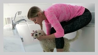 BATH WITH MY DOG!   iJustine