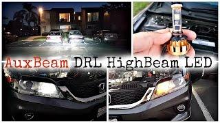AuxBeam DRL Highbeam LED Bulb Full Review