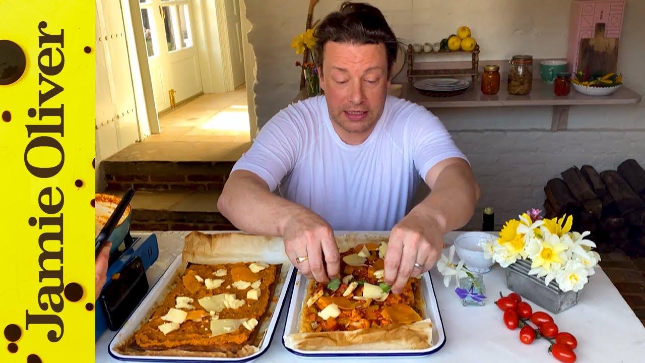 Homemade ratatouille pizza: Jamie Oliver