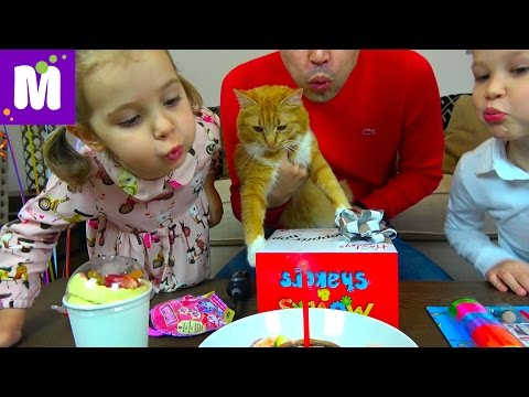 День Рождения Кошечки Мурки / 5 этажный дом и Кролик в подарок