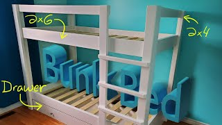 How To Build A Bunk Bed (FREE Plans)