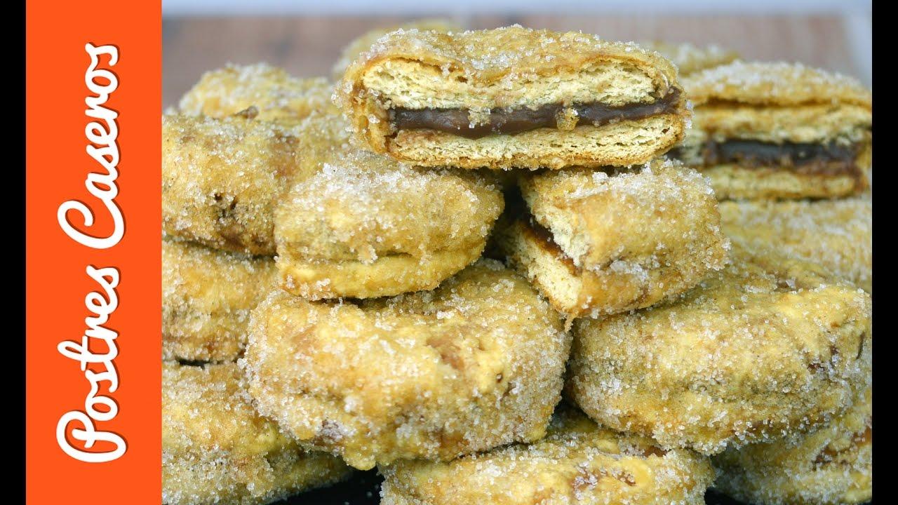 Galletas fritas rellenas de chocolate | Javier Romero