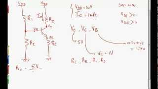 How to bias an NPN transistor using the 4 resistor biasing technique