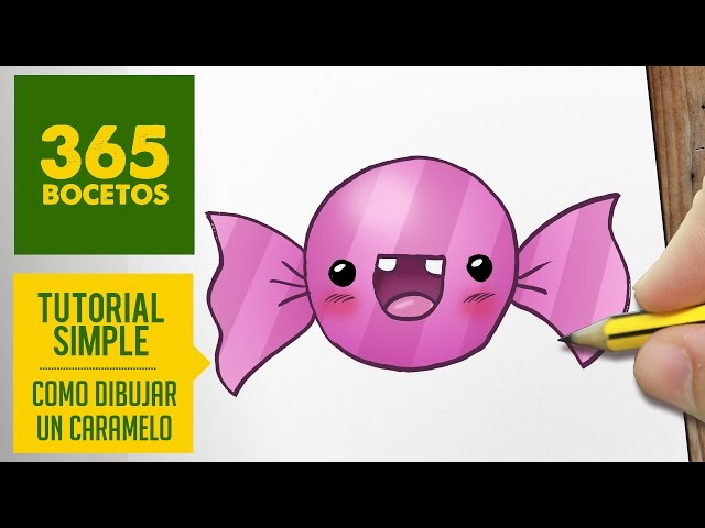 Video Como Dibujar Un Caramelo Kawaii Paso A Paso Dibujos Kawaii