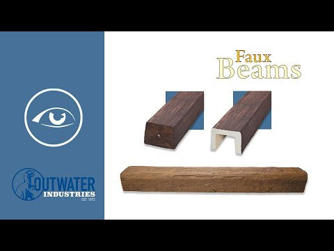 11-3/4in W x 14-3/4in H | Unfinished Polyurethane New World Faux Wood Beam | 14ft Long