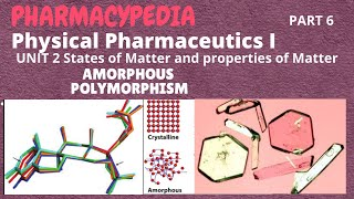 AMORPHOUS AND POLYMORPHISM | PART 6 | UNIT 2 | PHYSICAL PHARMACEUTICS     1 | B.PHARM | 3rd SEMESTER