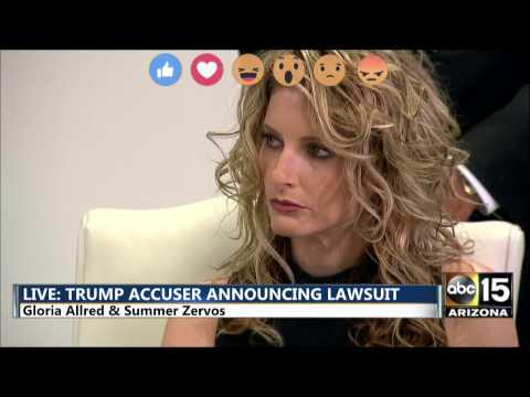 FULL: Gloria Allred & Summer Zervos file lawsuit against President-elect Donald Trump