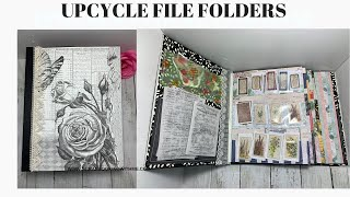 UPCYCLE OLD FILE FOLDERS, EPHEMERA STORAGE JOURNAL ~ THE FINISH