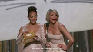Jennifer Lopez & Cameron Diaz at the OSCARS 2012