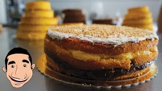 PIZZA DOLCE ABRUZZESE | 3 Layered Sponge Cake Recipe (Wedding Cake) | Christmas Recipes